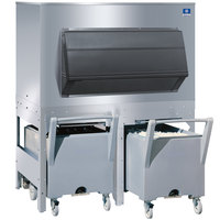 Manitowoc FC-1350 Ice Storage Bin with 2 Carts - 1350 lb.
