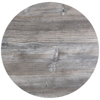 BFM Seating TRN32RDW Tribeca 32 inch Round Driftwood Composite Laminate Outdoor / Indoor Tabletop with Knife Edge