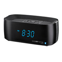 Conair Hospitality WCL75BK Black Bluetooth Digital Alarm Clock with Dual USB Charging Ports and Single Day Alarm