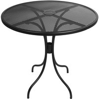 BFM Seating SU30RBL-D Barnegat 30 inch Round Black Steel Outdoor / Indoor Dining Height Table