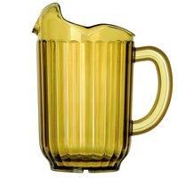 Vollrath 6010-16 Traex® Tuffex 60 oz. Amber Three-Lip Deluxe Beverage Pitcher