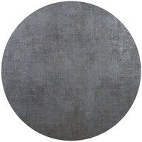 BFM Seating FS24R Midtown 24 inch Round Tabletop - Frosted Slate