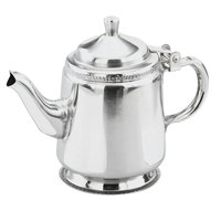 Vollrath 48312 10 oz. Mirror Finished Silver Plated Stainless Steel Gooseneck Beverage Server