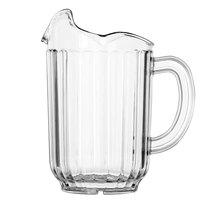 Vollrath 6010-13 Traex® Tuffex 60 oz. Clear Three-Lip Deluxe Beverage Pitcher