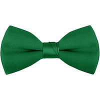 Henry Segal Kelly Green 2 inch Wide Clip-On Poly-Satin Bow Tie