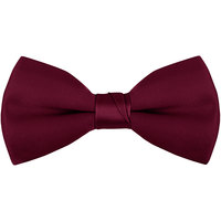 Henry Segal Burgundy 2 inch Wide Clip-On Poly-Satin Bow Tie