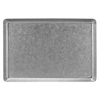 Front of the House DDP074ANS21 Mod 13 inch x 7 inch Rectangular Antique Finish Stainless Steel Plate - 4/Case