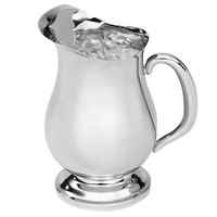 Vollrath 46599 61 oz. Mirror Finish Stainless Steel Water Pitcher with Ice Guard