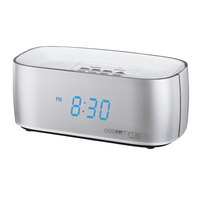 Conair Hospitality WCL70S Silver Digital Alarm Clock with Dual USB Charging Ports and Single Day Alarm