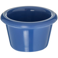 Carlisle S27514 1.5 oz. Ocean Blue Smooth Plastic Ramekin   - 48/Case
