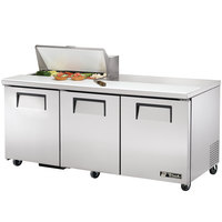 True TSSU-72-8 72 inch Three Door Sandwich / Salad Prep Refrigerator