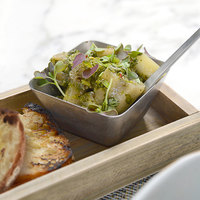 Front of the House DSD069ANS23 Mod 5 oz. Square Antique Finish Stainless Steel Ramekin - 12/Case