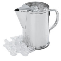 Vollrath 46402 64 oz. Stainless Steel Water Pitcher with Ice Guard