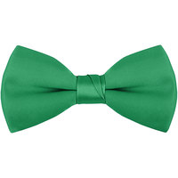 Henry Segal Emerald Green 2 inch Wide Clip-On Poly-Satin Bow Tie