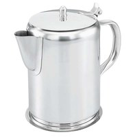 Vollrath 48365 64 oz. Mirror Finished Silver Plated Stainless Steel Coffee Server