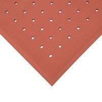 Cactus Mat 5000-R35 VIP Red Cloud 3' x 5' Red Grease-Proof Rubber Floor Mat - 3/4 inch Thick