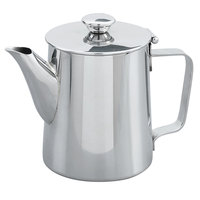 Vollrath 46314 10 oz. Mirror Finished Stainless Steel Coffee / Tea Server with Flat Handle