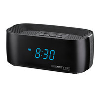 Conair Hospitality WCL70BK Black Digital Alarm Clock with Dual USB Charging Ports and Single Day Alarm