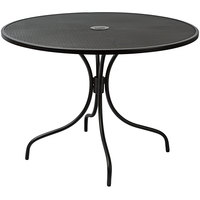 BFM Seating SU42RBL-D Barnegat 42 inch Round Black Steel Outdoor / Indoor Dining Height Table with Umbrella Hole