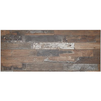 BFM Seating PP3072 Midtown 30 inch x 72 inch Rectangular Indoor Tabletop - Planked Pine