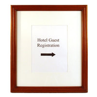 17 inch x 1 1/2 inch 19 1/2 inch Wooden Information and Directional Sign Frame