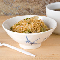 Thunder Group 3005BB Blue Bamboo 9 oz. Round Melamine Rice Bowl - 12/Case