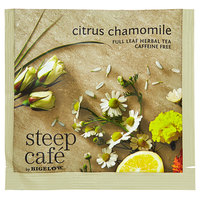 Steep Cafe By Bigelow Citrus Chamomile Tea Pyramid Sachets - 50/Case