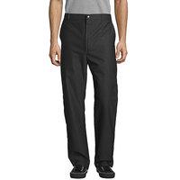Uncommon Threads 4013 Unisex Black Customizable Straight Leg Chef Pants - 30 inch