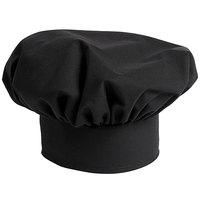 Uncommon Threads 0100 Black Customizable Poplin Chef Hat
