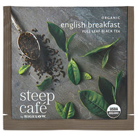 Steep Cafe By Bigelow Organic English Breakfast Tea Pyramid Sachets - 50/Case