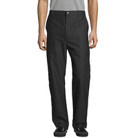 Uncommon Threads 4013 Unisex Black Customizable Straight Leg Chef Pants - 34 inch