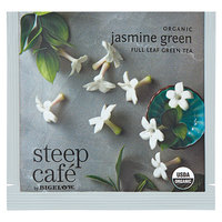 Steep Cafe By Bigelow Organic Jasmine Green Tea Pyramid Sachets - 50/Case