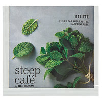 Steep Cafe By Bigelow Mint Herbal Tea Pyramid Sachets - 50/Case
