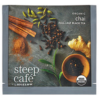 Steep Cafe By Bigelow Organic Chai Black Tea Pyramid Sachets - 50/Case
