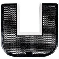 23 inch x 22 inch Black Disposable Toilet Floor Mat (IMP 1550-5)   - 6/Case