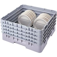Cambro CRP3067151 Soft Gray Full Size PlateSafe Camrack 6-7 5/8 inch