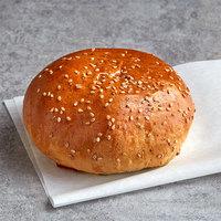 LeBus 4 1/4 inch Country White Sesame Hamburger Sandwich Roll - 72/Case