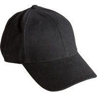 Henry Segal Customizable 6-Panel Black Chef Cap with Moisture Wicking Band and UV Protection