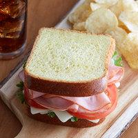 LeBus 40 oz. Sliced Brioche Sandwich Bread Loaf   - 5/Case