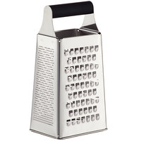 Mercer Culinary M35420 MercerGrates™ 9 inch 4-Sided Stainless Steel Box Grater with Black Handle