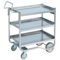 Vollrath 97208 Heavy-Duty Stainless Steel 3 Shelf Utility Cart - 44 inch x 23 inch x 44 1/2 inch