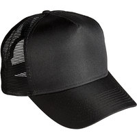 Henry Segal Customizable 5-Panel Black Chef Cap with Mesh Back