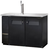 True TDB-24-48 49 inch Back Bar Cooler Direct Draw Kegerator Beer Dispenser with Two Solid Doors