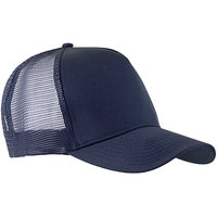 Henry Segal Customizable 5-Panel Navy Chef Cap with Mesh Back