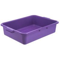 Carlisle N4401089 Comfort Curve 20 inch x 15 inch x 5 inch Purple Polyethylene NSF Bus Tub - Bulk