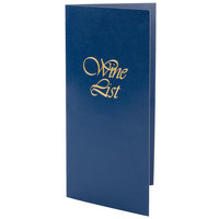 5 1/2 inch x 11 inch Menu Solutions L702C Wine List Cover - Dark Blue