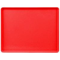 Cambro 1418D521 14 inch x 18 inch Cambro Red Dietary Tray - 12/Case