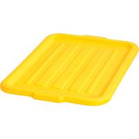 Carlisle N4401204 Comfort Curve 20 inch x 15 inch Yellow Polypropylene NSF Bus Tub Lid