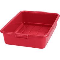 Carlisle N4401005 Comfort Curve 20 inch x 15 inch x 5 inch Red Polyethylene NSF Bus Tub