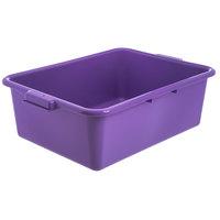 Carlisle N4401189 Comfort Curve 20 inch x 15 inch x 7 inch Purple Polyethylene NSF Bus Tub - Bulk